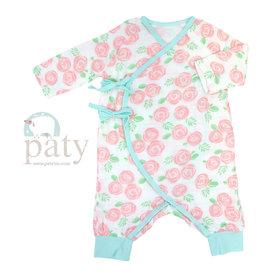 Paty, Inc. Rose Print Muslin Romper
