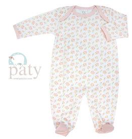 Paty, Inc. LS Floral Footie