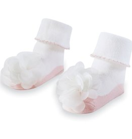 Mud Pie Bella Baby Socks White