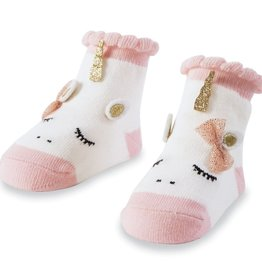 Mud Pie Pink Unicorn Socks