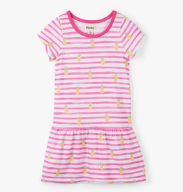 Hatley Painted Pineapples Drop Waist Dress Pink
