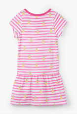 Hatley Painted Pineapples Drop Waist Dress Pink