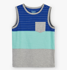 Hatley Blue Hawaii Color Block Tank