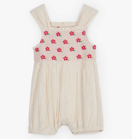 Hatley Tropic Flowers Baby Romper Cool Blonde