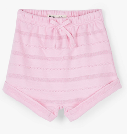 Hatley Pink Stripes Terry Shorts First Blush