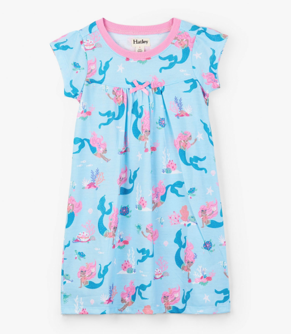 Hatley Mermaid Tales Nightdress Swimming Pool