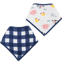 Mud Pie Muslin Farmhouse Bibs Set