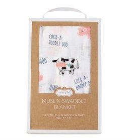 Mud Pie Muslin Farmhouse Swaddle Blanket