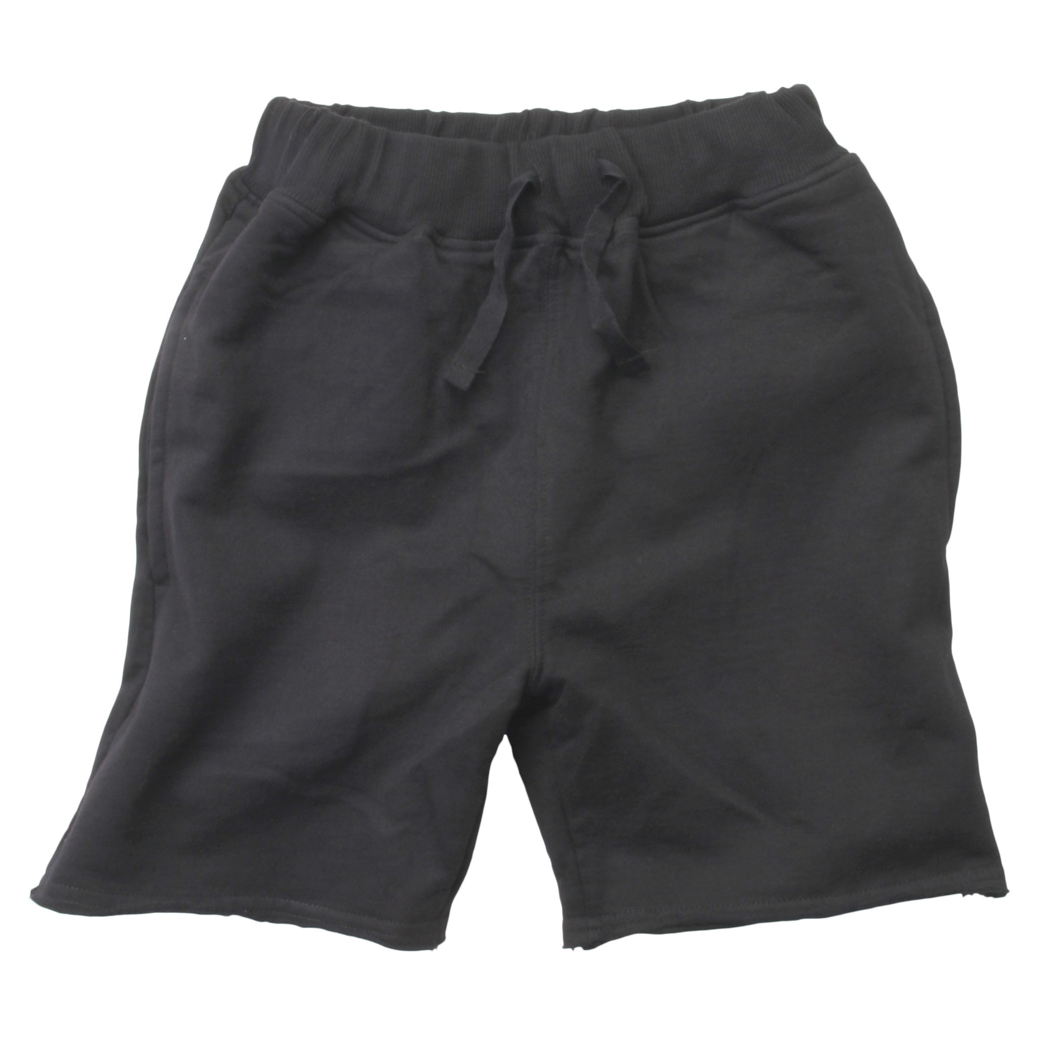 Wes And Willy Raw Edge Fleece Short Black