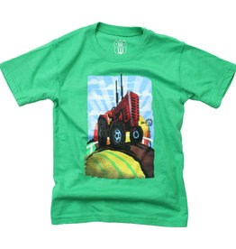 Wes And Willy Tractor SS Tee Irish Blend