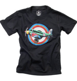 Wes And Willy Airplane SS Tee Black