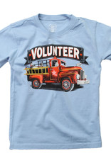 Wes And Willy Firefighter SS Tee NC Blue