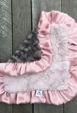 Rockin Royalty Dusty Rose Lovie Blanket