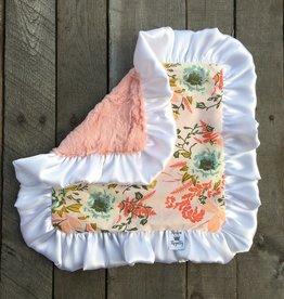 Rockin Royalty Peach Posy Lovie Blanket