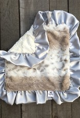 Rockin Royalty Silver Snow Cat Lovie Blanket