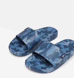 Joules Poolside Slide Sandal Blue Shark Camo