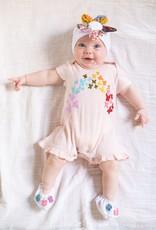 Mimi & Maggie Butterfly Rainbow Blush Romper