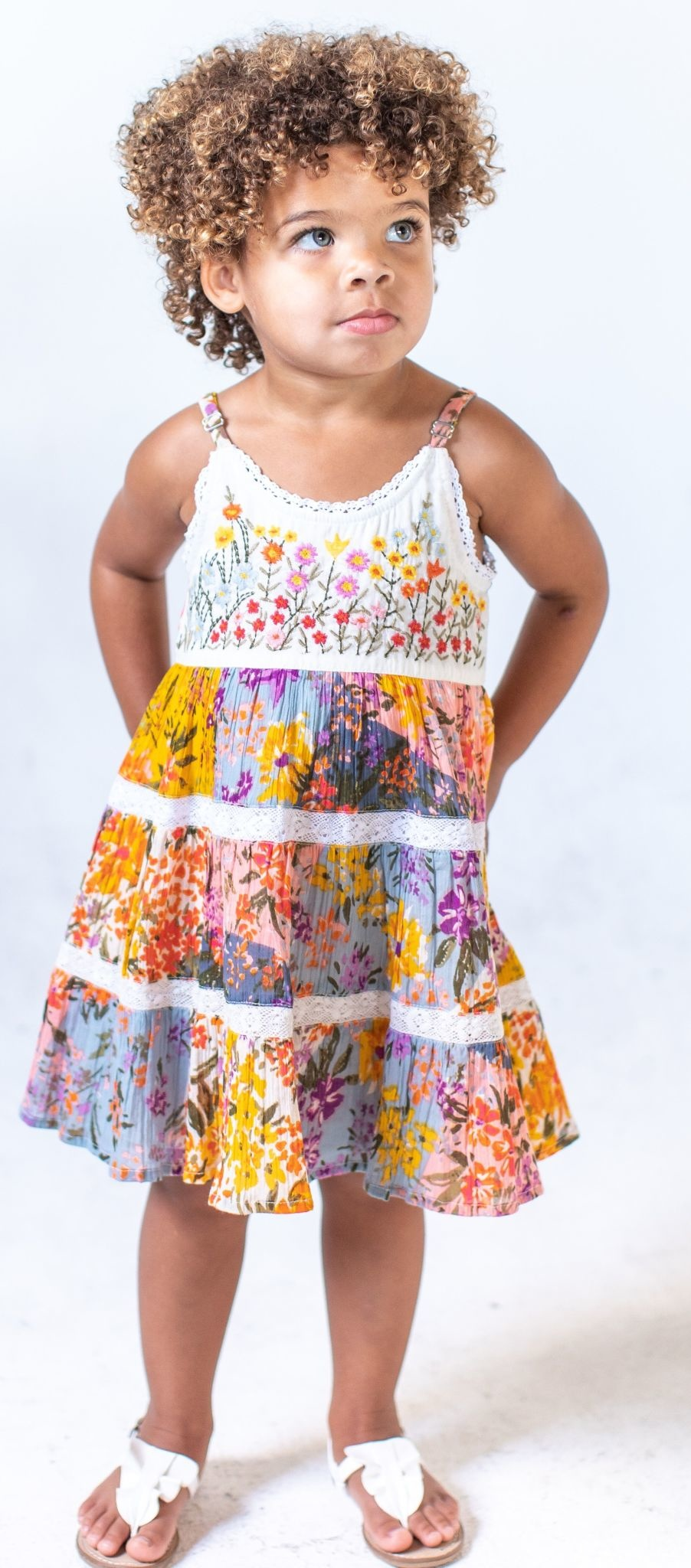 Mimi & Maggie Paintbox Flowers Dress Multi