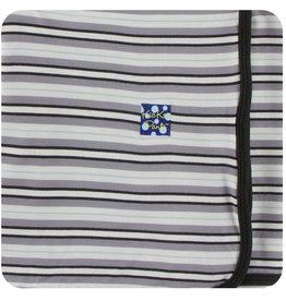 Kickee Pants Print Swaddling Blanket India Pure Stripe