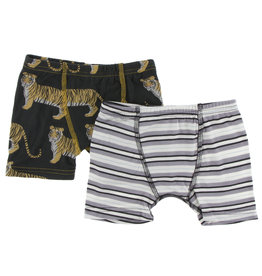 Kickee Pants Boxer Briefs Set Zebra Tiger/India Stripe