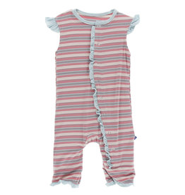 Kickee Pants Ruffle Tank Romper India Dawn Stripe