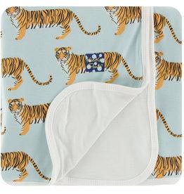 Kickee Pants Print Toddler Blanket Spring Sky Tiger