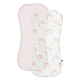 Kickee Pants Burp Cloth Set Nat. Lotus Flower/Macaroon