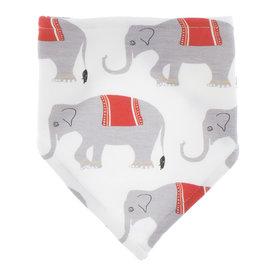 Kickee Pants Print Bandana Bib Natural Indian Elephant