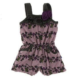 Kickee Pants Flower Romper Raisin Grape Vines