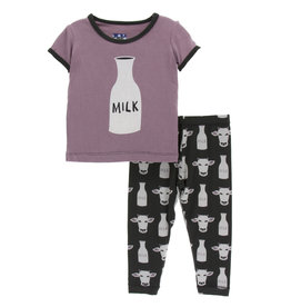 Kickee Pants SS PJ Set Zebra Tuscan Cow