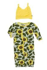 Kickee Pants Ruff. Converter & Hat Aloe Sunflower