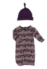 Kickee Pants Layette Gown & Hat Raisin Grape Vines