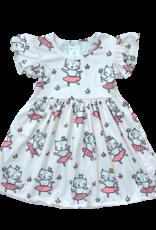 Mila & Rose Princess Kitty Flutter Sleeve Dress