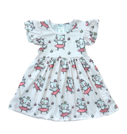 Mila & Rose Princess Kitty Flutter Sleeve Dress