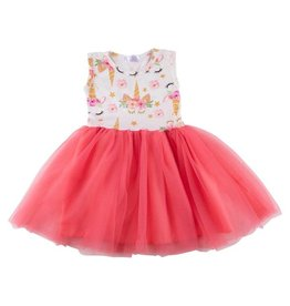 Mila & Rose Unicorn Dream Coral Tank Tutu Dress