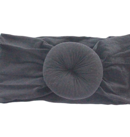 Mila & Rose Onyx Black Nylon Turban Style Headwrap