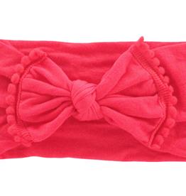 Mila & Rose Ladybug Red Pom Pom Nylon Headwrap