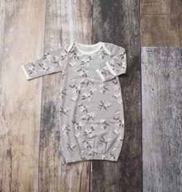 Bestaroo Gown Gray Lillies 0/3M