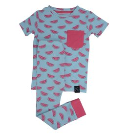 Sweet Bamboo Big Kid PJs with Pocket Watermelon