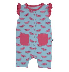 Sweet Bamboo Tank Romper Girl Watermelon