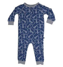 Sweet Bamboo Piped Romper with Zipper Anchor