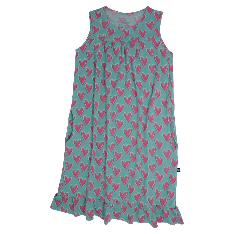 Sweet Bamboo Boho Dress Hearts