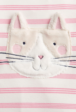 Joules Gracie Pink Stripe Cat Babygrow