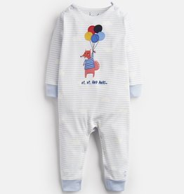 Joules Fife Blue Balloon Fox Babygrow
