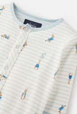 Joules Ziggy Cream Stripe Peter Rabbit Footie