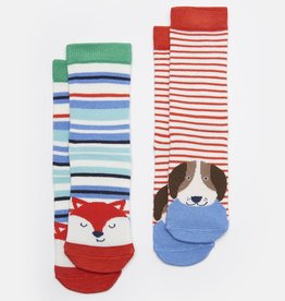 Joules Neat Feet Socks Multi Dog Fox Set