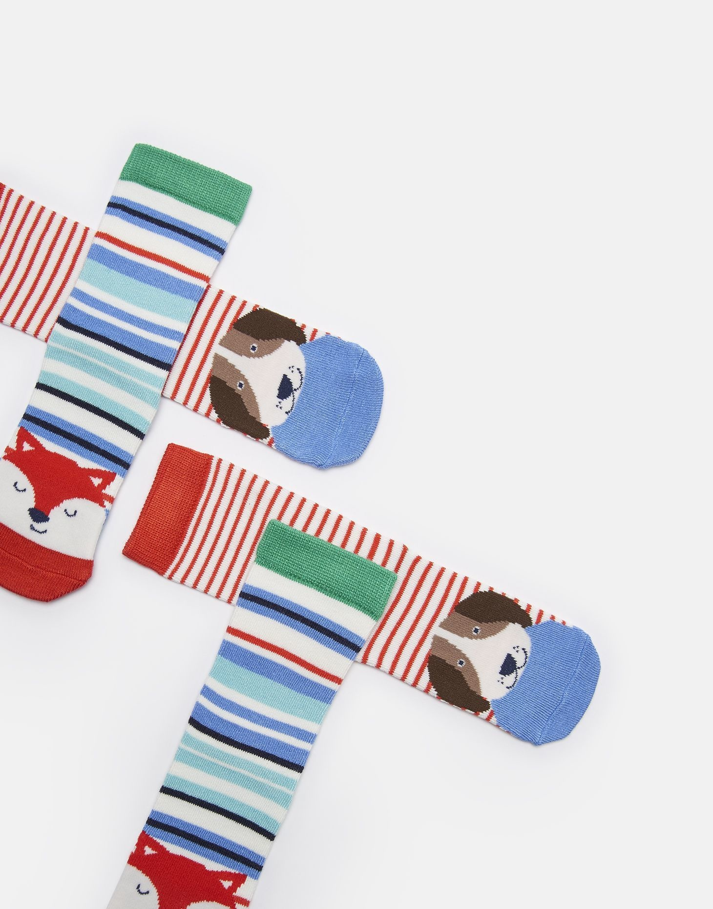 Joules Neat Feet Socks Multi Dog Fox Set