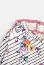Joules Marlston Hooded Sweatshirt Navy Stripe Floral