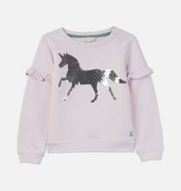 Joules Tiana Pink Unicorn Lightweight Sweatshirt