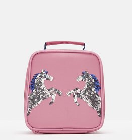 Joules Munch Bag (Lunch Box) Pink Sequin Horse